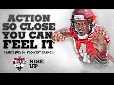 Atlanta Falcons Training Camp Signage