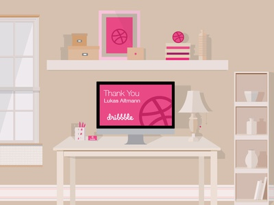 Thank You thank you debuts invite illustration flat work place