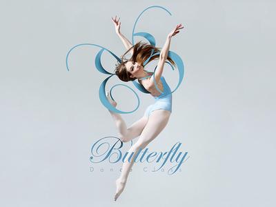 Butterfly Dance Class ballet woman dance butterfly ballerina dance class typography wing poster advertising