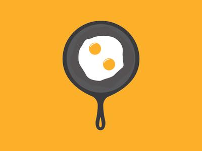 My diet! breakfast illustration pan egg diet