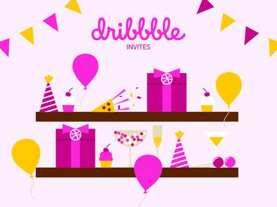 Dribbble invite 2 invite gift box dribbble invite win party invitation