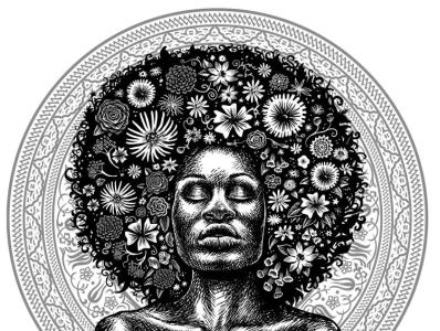 MotherEarth illustrator drawing portrait illustrations illustration digital
