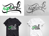 UpWork T-Shirt Hand-Drawn logo