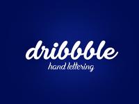 dribbble hand lettering