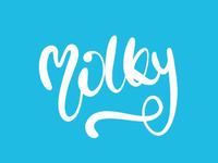 MILKY hand-lettering logo