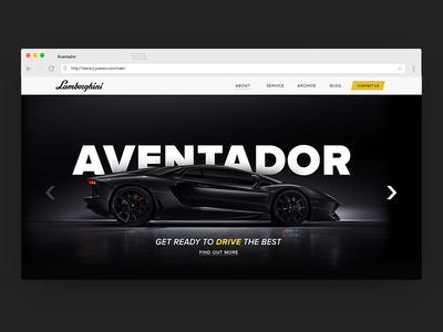 Lamborghini Aventador - Web Layout concept