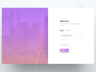 Daily UI 001: Sign up