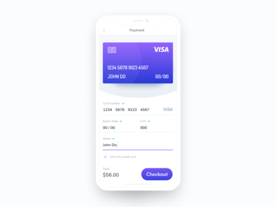Daily UI 002: Credit Card Checkout