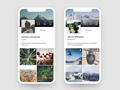 Daily UI 006: User Profile figma photo app daily ui 006 daily ui mobile user profile