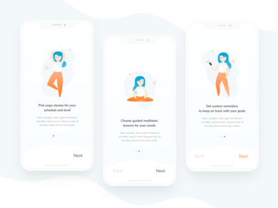 Daily UI 023: Onboarding (Mindfulness App)