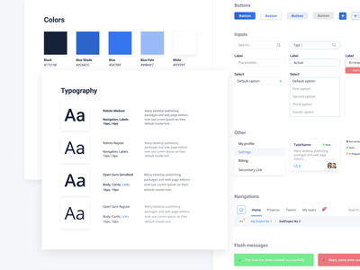 UI Style Guide blue figma ui dashboard ui pack style guide ui