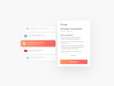 Daily UI 050: Job Listing 050 daily ui 050 job board web design job listing peach orange web figma ui daily ui dailyui