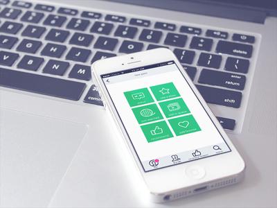 Showit App ux ui interface mobile app design mockup concept ios iphone nav