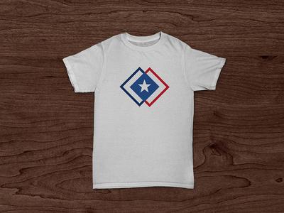CU Match T-Shirt t-shirt shirt design logo brand symbol geometric star mockup shapes vector lines