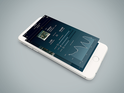 Music Stats interface icons graph design data music ui iphone mockup mobile
