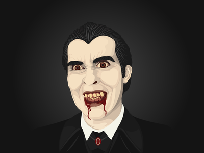 Dracula blood teeth vampire monster halloween vector dracula illustration