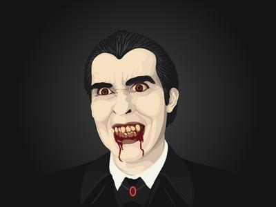 Dracula blood teeth vampire monster halloween vector dracula illustration
