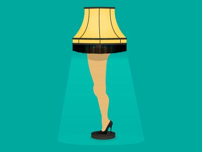 """""""Fragilé!"""" holiday fragile christmas vector lamp leg illustration"""