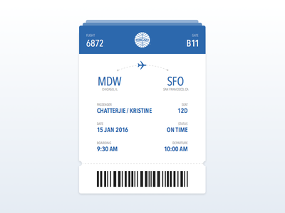 Daily UI | Boarding Pass travel pass flight card daily ui boarding pass ui design