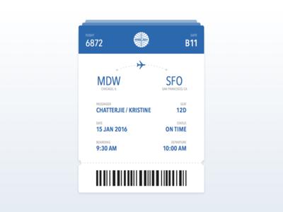 Daily UI | Boarding Pass travel pass flight card daily ui boarding pass ui design