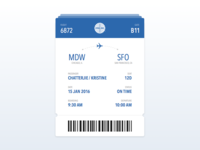 Daily UI | Boarding Pass