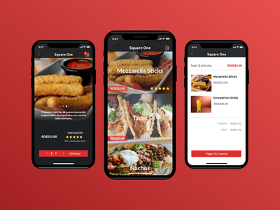 Pincer rating pay first shot order iphone x food check out menu app restaurant ux ui
