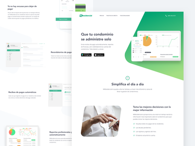 Redesign for MiResidencial ux ui landing page responsive graph chart mobile app homepage product website web