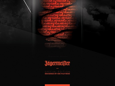 Jagermeister - Bottle Rebranding spirits bottle branding custom