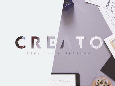 Creato - Sneak Peak web website bootstrap flat one page minimal light white wordpress