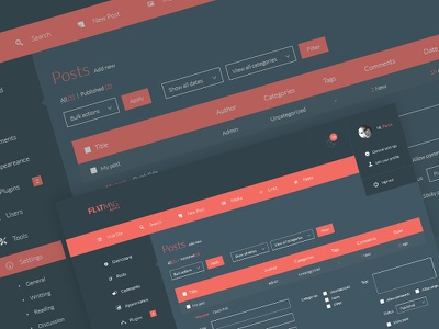 Flatmag Admin - Wordpress Admin Panel Skin minimal ui wordpress dashboard ux app web mac windows flat clean user interface