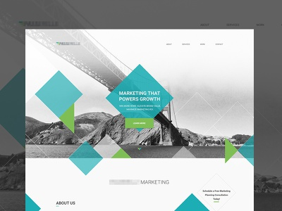 Marketing Landing Page page landing marketing isometric flat ux ui bootstrap design web