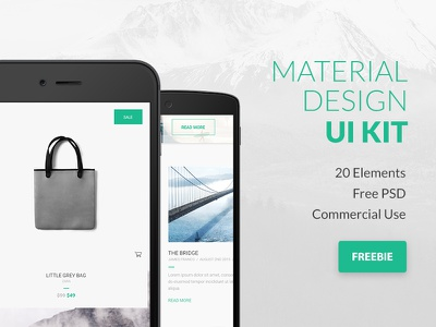 FREEBIE PSD: Google Material Design UI Kit app design mobile web google ui kit freebie psd free design material ux ui