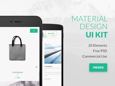 FREEBIE PSD: Google Material Design UI Kit
