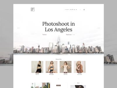 P&R - Fashion Landing Page