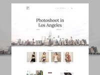 P&R - Fashion Landing Page fashion blog blog landing ui white light material flat minimal homepage landing page fashion