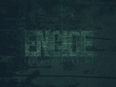 Encide Wallpaper encide wallpaper wall community underground blueprint typography grunge dark blue green