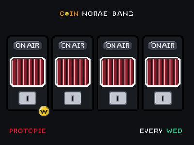 Coin Karaoke Wednesday fun promotional design component prototyping protopie pixel