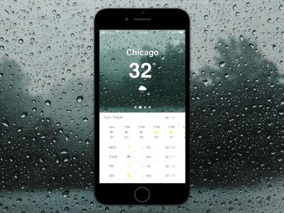Weather App ux sketch design mobile app ios ui ui challenge rebound