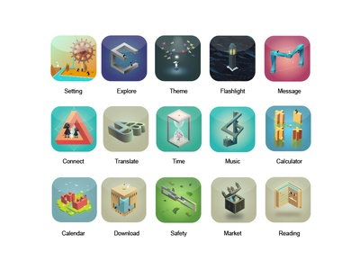 Monument Valley theme icon