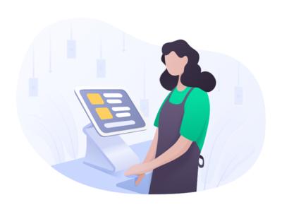 A Cashier System Illustration