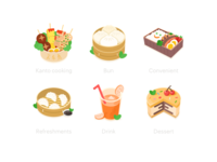 6 food icons&3 invitation codes
