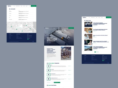 Logistics | Corporate Websites branding design business corporate flat layout ux ui web webdesign