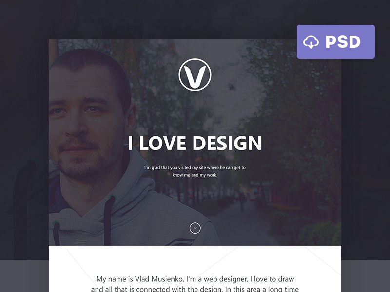 Personal Site | Free PSD web webdesign ui layout ux business psd free portfolio corporate flat