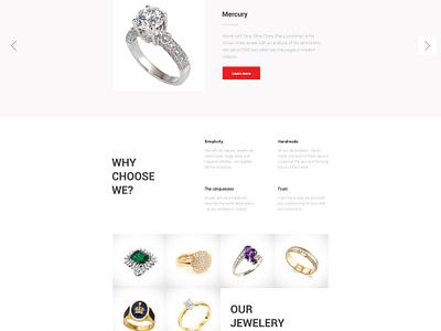 Jewelery flat corporate portfolio free psd business ux layout ui webdesign web