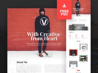 Personal Website Redesign | Free PSD