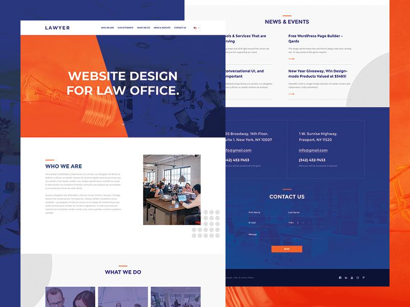 Lawyer   Free PSD flat corporate lawyer free psd business ux layout ui webdesign web