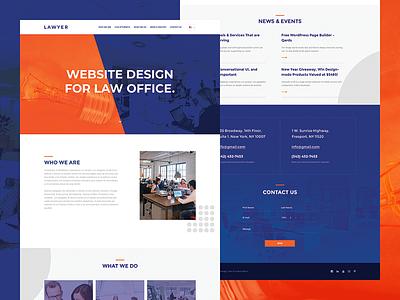 Lawyer | Free PSD flat corporate lawyer free psd business ux layout ui webdesign web