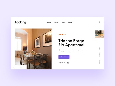 Booking layout design business corporate ux ui flat webdesign web