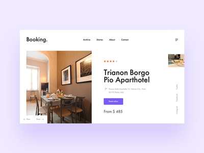 Booking layout design business corporate ux ui flat webdesign web