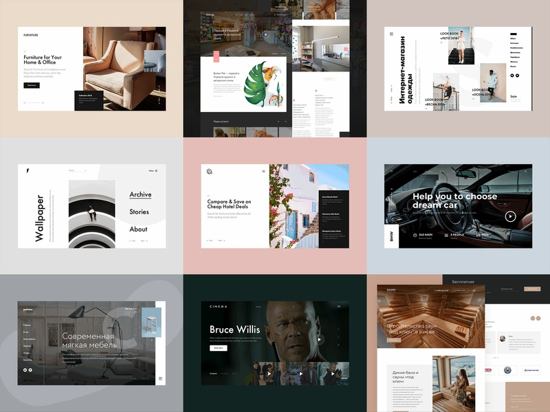 Best of 2018 website business layout ux ui web webdesign collection best design best 9 best of 2018